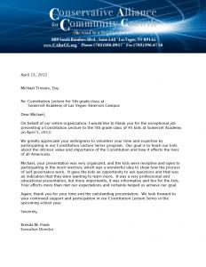 Thank You Media letter